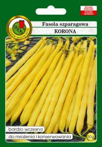 Fasola szparagowa żółta karłowa Korona front